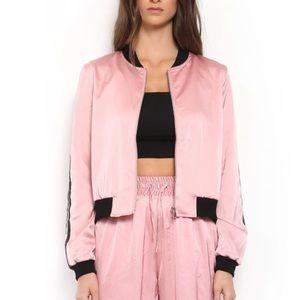 I.Am.Gia satin bomber jacket in pink